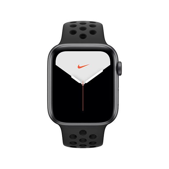 Montre connectée Apple Watch Nike Series 5 Aluminium (gris- Bracelet Sport Noir) - GPS - 44 mm - Autre vue