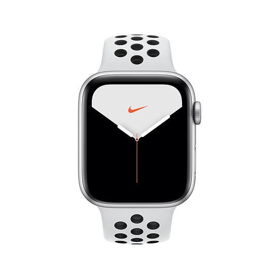 Montre connectée Apple Watch Nike Series 5 Aluminium (argent- Bracelet Sport Platine Pur / Noir) - Cellular - 44 mm - Autre vue