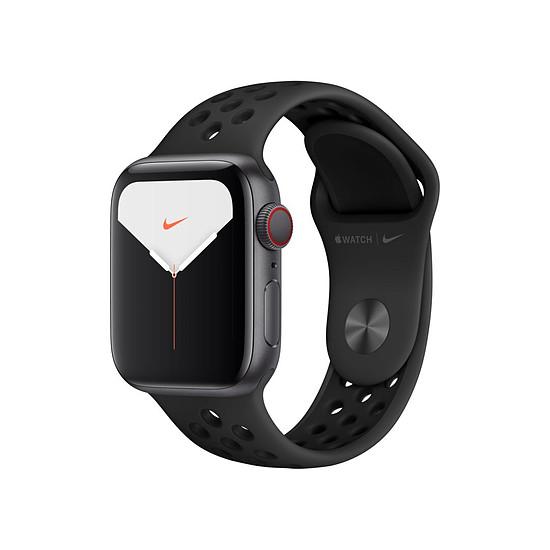 Montre connectée Apple Watch Nike Series 5 Aluminium (Gris - Bracelet Sport Noir) - Cellular - 40 mm
