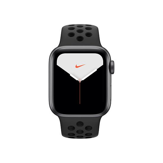 Montre connectée Apple Watch Nike Series 5 Aluminium (Gris - Bracelet Sport Noir) - Cellular - 40 mm - Autre vue