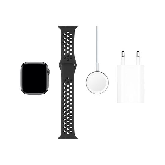 Montre connectée Apple Watch Nike Series 5 Aluminium (Gris - Bracelet Sport Noir) - Cellular - 44 mm - Autre vue