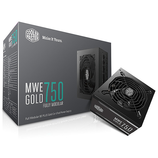 Alimentation PC Cooler Master MWE Gold 750 FM