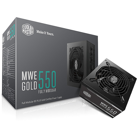 Alimentation PC Cooler Master MWE Gold 550 FM