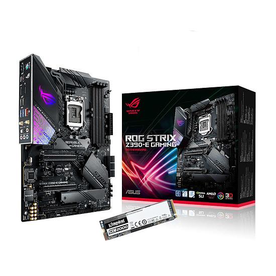 Kit upgrade PC ASUS ROG STRIX Z390-E GAMING + SSD Kingston KC2000 500 Go