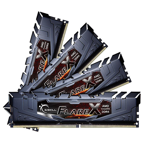 Mémoire G.Skill Flare X Black DDR4 4 x 16 Go 3200 MHz CAS 14