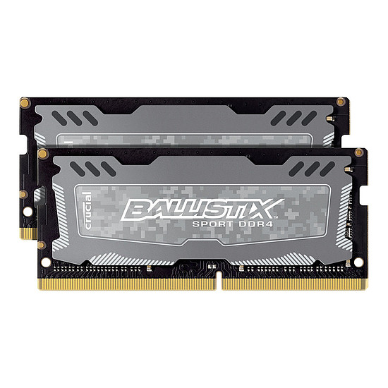 Mémoire Ballistix SO-DIMM Sport LT DDR4 2 x 8 Go 2400 MHz
