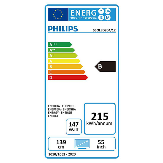 TV Philips 55OLED804 - TV OLED 4K UHD HDR - 139 cm - Autre vue