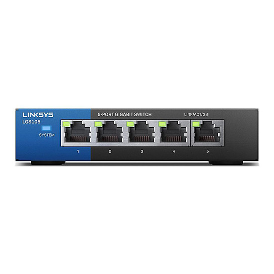 Switch et Commutateur Linksys LGS105 - Switch non manageable 5 ports Gigabit