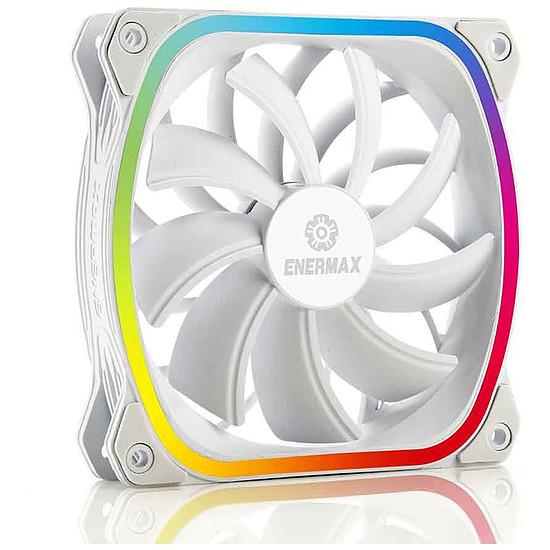 Ventilateur Boîtier Enermax SquA RGB - 120 mm Blanc