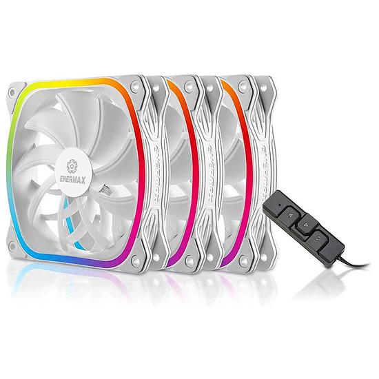 Ventilateur Boîtier Enermax SquA RGB 120 mm Blanc - Pack de 3