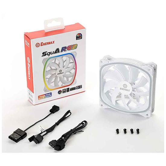 Ventilateur Boîtier Enermax SquA RGB 120 mm Blanc - Pack de 3 - Autre vue