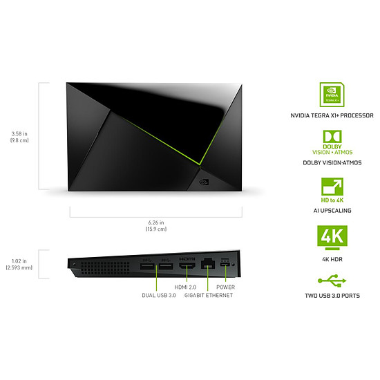 Box TV multimédia NVIDIA SHIELD TV Pro (3 ème génération) - Autre vue