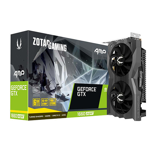 Carte graphique Zotac GeForce GTX 1660 SUPER AMP