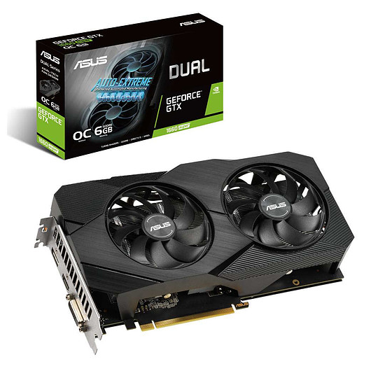 Carte graphique Asus GeForce GTX 1660 SUPER Dual OC EVO