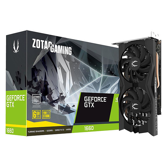 Carte graphique Zotac GeForce GTX 1660 Twin Fan