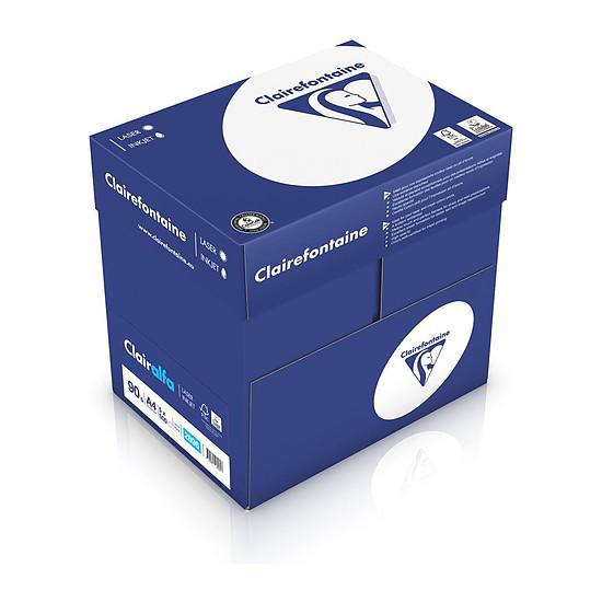 Papier imprimante Clairefontaine Clairalfa ramette 500 feuilles 90g A4 Blanc X5