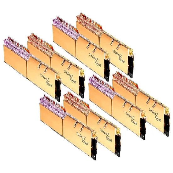 Mémoire G.Skill Trident Z Royal Gold RGB 256 Go (8 x 32 Go) 3200 MHz DDR4 CL16