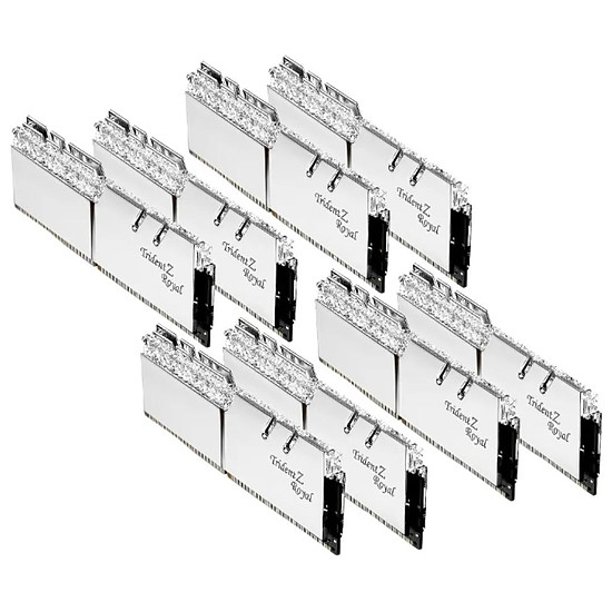 Mémoire G.Skill Trident Z Royal Silver RGB - 8 x 8 Go (64 Go) - DDR4 4000 MHz - CL15