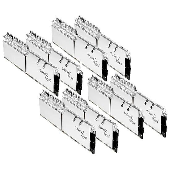 Mémoire G.Skill Trident Z Royal Silver RGB 256 Go (8 x 32 Go) 3200 MHz DDR4 CL16