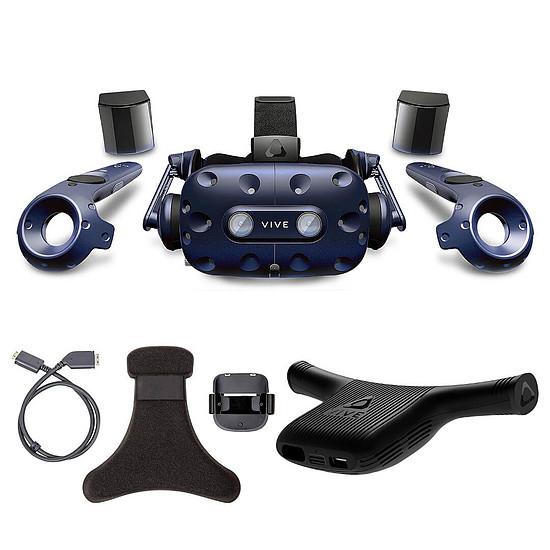 Réalité Virtuelle HTC Kit VIVE Pro + Wireless Adaptator + Wireless Adaptator Clip