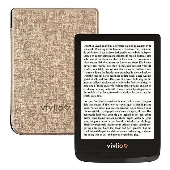 Liseuse numérique Vivlio Touch Lux 4 (noir) + Vivlio Housse Chinée (dorée)