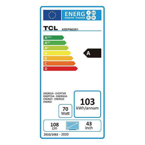 TV TCL 43EP663 - TV 4K UHD HDR - 108 cm - Autre vue