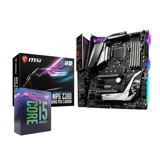 Kit upgrade PC Intel Core i5 9600K + MSI Z390 Gaming Pro Carbon