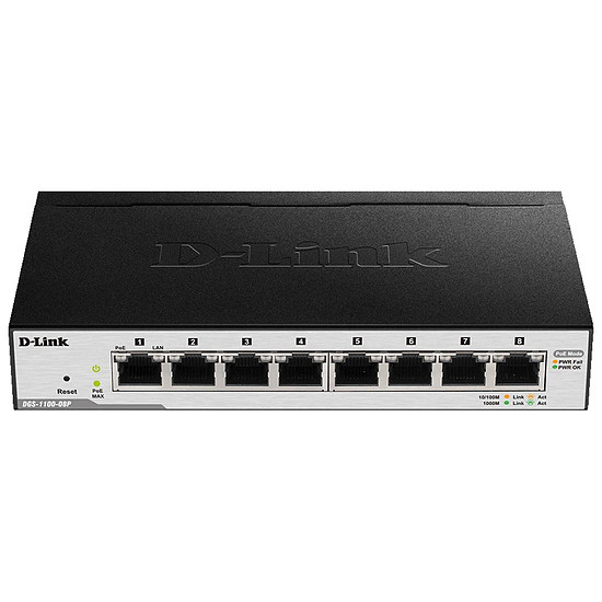 Switch et Commutateur D-Link DGS-1100-08P - Autre vue