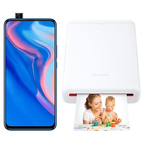 Smartphone et téléphone mobile Huawei P Smart Z Bleu - 64 Go + Imprimante de Poche Huawei CV80 offerte