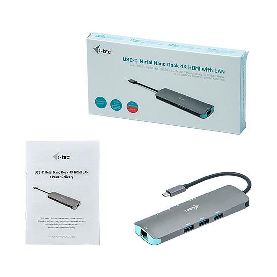 Station d'accueil PC portable i-tec Station d'accueil USB-C Metal Nano + Power Delivery 100W - Autre vue