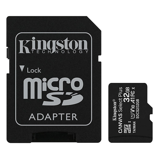 Carte mémoire Kingston Canvas Select Plus SDCS2/32GB