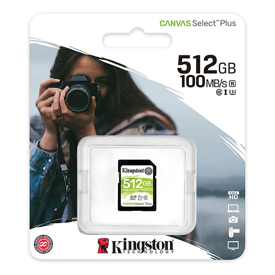 Carte mémoire Kingston Canvas Select Plus SDS2/512GB - Autre vue