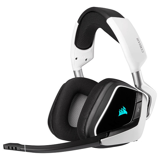 Casque micro Corsair Void RGB Elite Wireless - Blanc