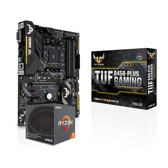 Kit upgrade PC AMD Ryzen 5 2600X + Asus TUF B450-PLUS GAMING
