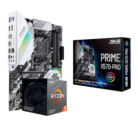 Kit upgrade PC Ryzen 5 3600X + Asus Prime X570-Pro