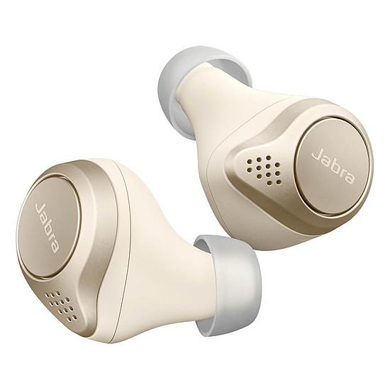Casque Audio Jabra Elite 75t Or Beige - Ecouteurs sans fil