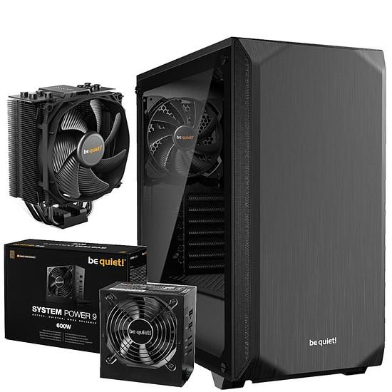 Boîtier PC Be Quiet Pure Base 500 TG Noir + System Power 9 600W CM + Dark Rock Slim