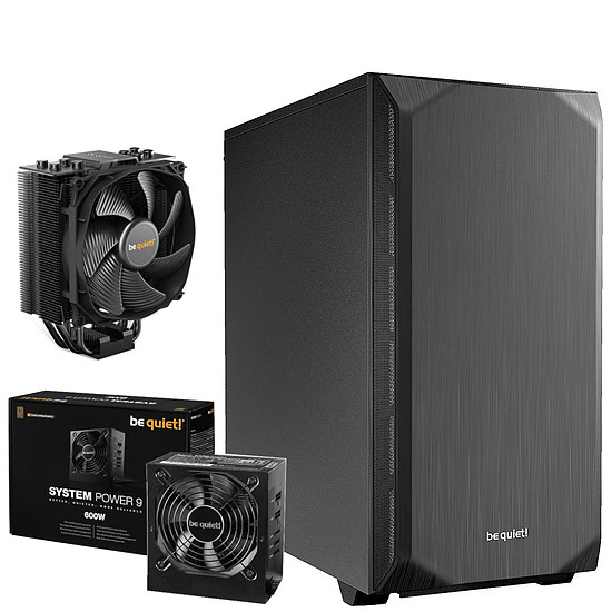 Boîtier PC Be Quiet Pure Base 500 Noir + System Power 9 600W CM + Dark Rock Slim