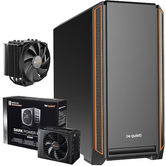 Boîtier PC Be Quiet Silent Base 601 Orange + Dark Power Pro 11 650W + DARK ROCK 4
