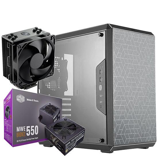 Boîtier PC Cooler Master MasterBox Q500L + MWE 550W Bronze V2 + Hyper 212 Black Edition