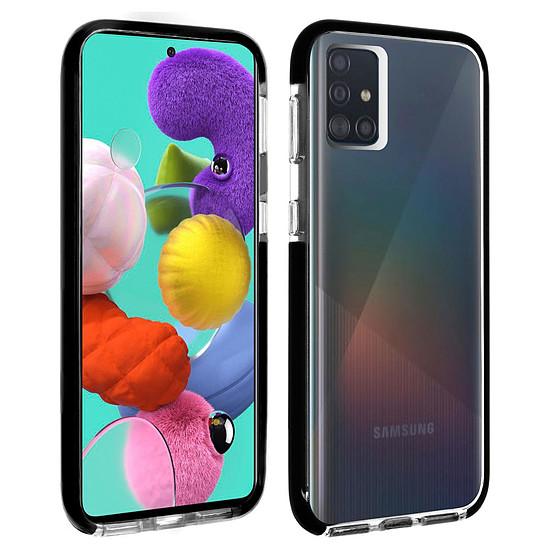 Coque et housse Akashi Coque Ultra Renforcée (transparent) avec bordures noires - Samsung Galaxy A51