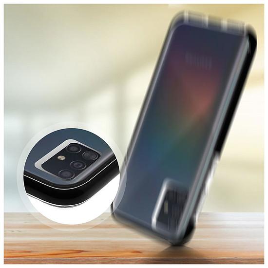 Coque et housse Akashi Coque Ultra Renforcée (transparent) avec bordures noires - Samsung Galaxy A51 - Autre vue