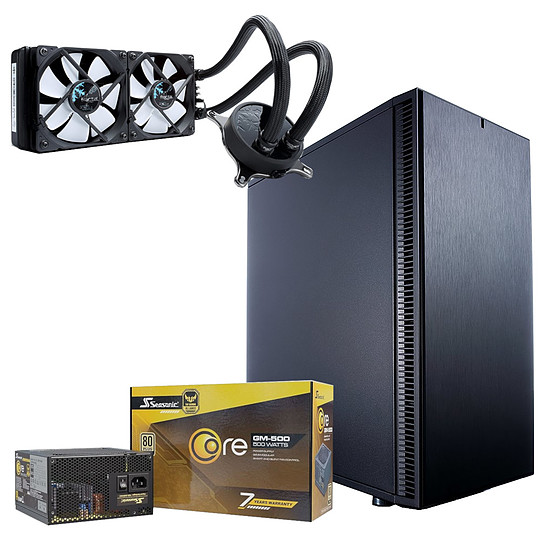 Boîtier PC Fractal Design Define C Black + Seasonic Core GM-500 + CELSIUS S24