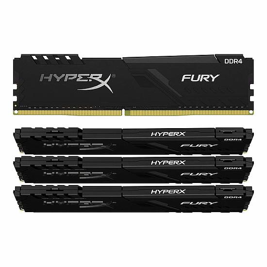 Mémoire HyperX Fury DDR4 4 x 32 Go 2666 MHz CAS 16