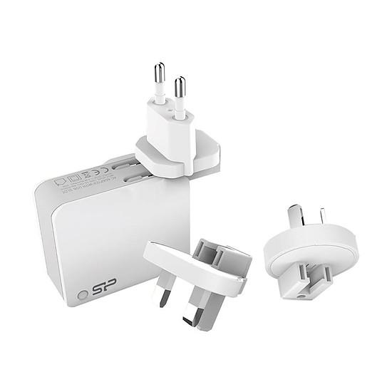 Chargeur Chargeur mural USB 2 ports fournit avec 3 prises (WC102P) - Autre vue