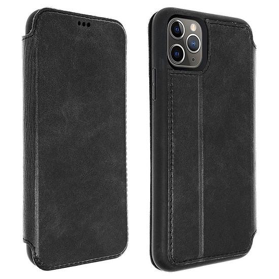 Coque et housse Akashi Etui folio cuir (noir) - Apple iPhone 11 Pro Max