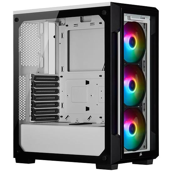 Boîtier PC Corsair ICUE 220T RGB Tempered Glass - Blanc