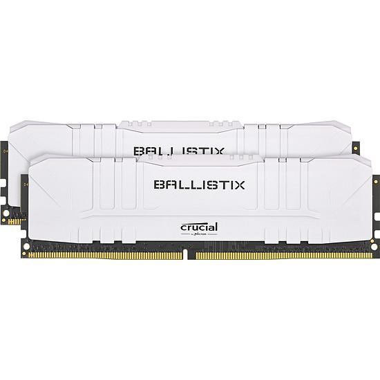 Mémoire Ballistix Blanche - 2 x 8 Go (16 Go) - DDR4 3000 MHz - CL15