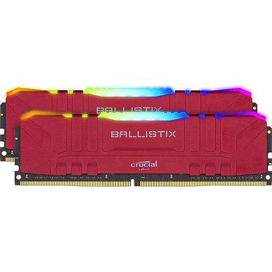 Mémoire Ballistix Rouge RGB - 2 x 8 Go (16 Go) - DDR4 3200 MHz - CL16
