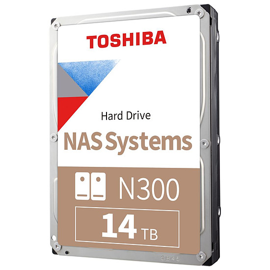 Disque dur interne Toshiba N300 - 2 x 14 To (28 To) - 256 Mo